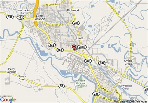 clute texas map map of days inn clute clute
