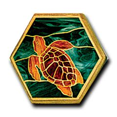 hex j and the magic glass books mosaic pattern 16 quot hex sea turtle glass crafters