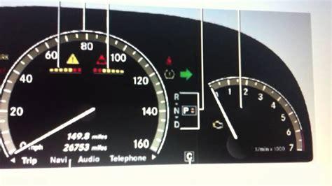 mercedes indicator lights mercedes s class w221 dashboard warning lights symbols