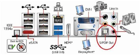 spdif out port s pdif information