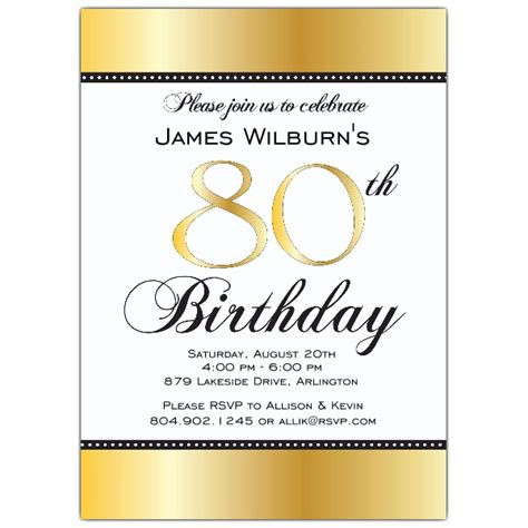 Happy 80th Birthday Card Template by Invitation Template 80th Birthday Http Webdesign14