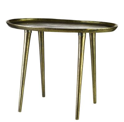 Handmade Table L - oval end table l 53 x h 42 cm handmade antique brass