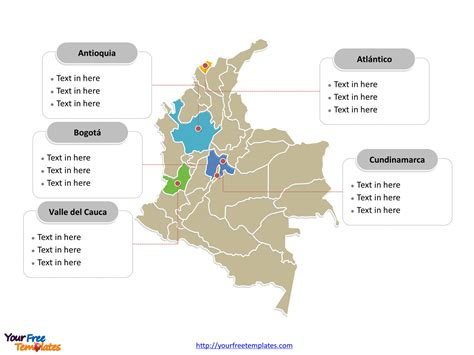 Free Colombia Powerpoint Map Free Powerpoint Templates Powerpoint Map Template