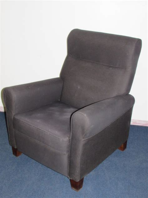 reclining arm chair lot detail attractive charcoal colored reclining arm chair
