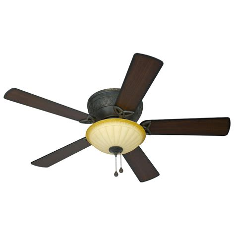 ceiling fans with lights at lowes shop harbor asheville 52 in burnished bronze flush mount ceiling fan with light kit at