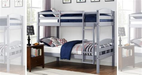 walmart com bunk beds hurry wood bunk bed set two twin mattresses only 189