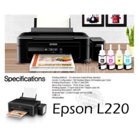 Printer Epson L220 Baru jual epson l220 syn print