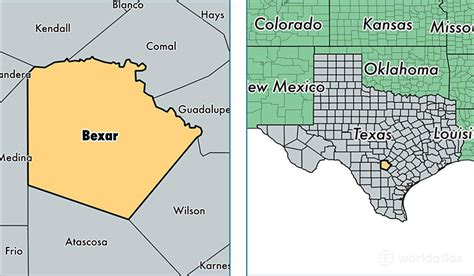where is bexar county texas on the map bexar county texas map of bexar county tx where is bexar county