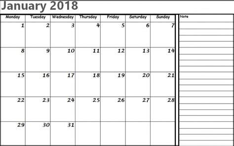 printable calendar editable 2018 january 2018 calendar editable printable