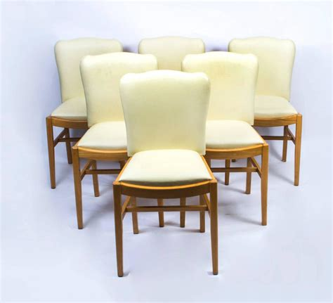 Maple Dining Table Set Antique Deco Bird S Eye Maple Dining Table And Six Chairs For Sale At 1stdibs