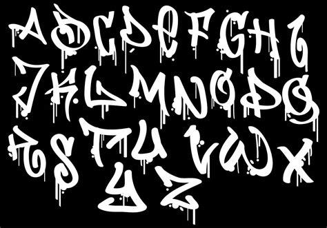 graffiti alphabet   vectors clipart