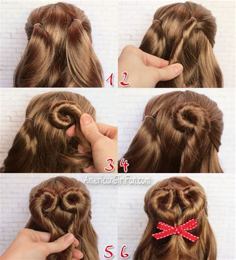 hairstyles to do on dolls american girl doll hairstyle valentine s day heart bun