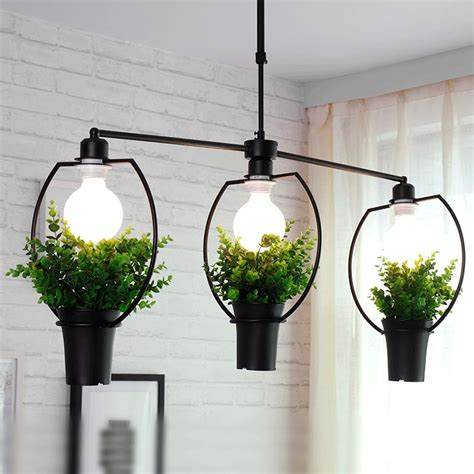 Modern Pendant Light Living Room Restaurant Plant Decor Living Room Pendant Lights