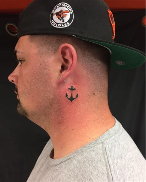 neck tattoo anchor 50 meaningful anchor tattoos for men women 2017