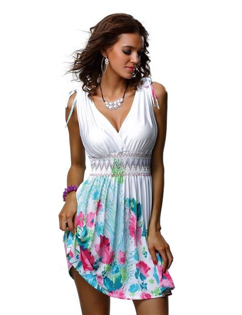 summer beach dresses for women new ladies womans summer tropical beach holiday short