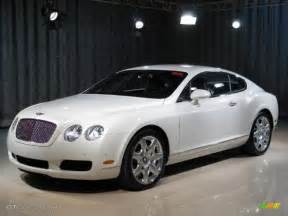 All White Bentley 2007 Ghost White Pearlescent Bentley Continental Gt