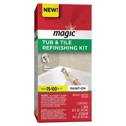 magic bathtub magic 16 oz bath tub and tile refinishing kit in white
