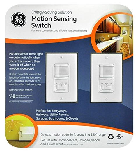 how to set timer on motion sensor light switch ge 2 pack motion sensor on off light switch timer white