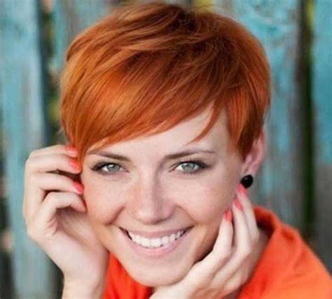 red hair on round face red short haircuts with bangs for round faces hair