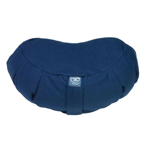 Zafu Pillows by Mad Zafu Pleated Crescent Buckwheat Cushion