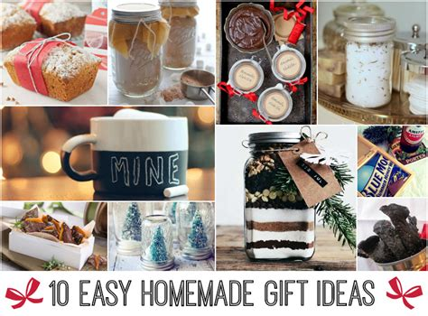 Easy Handmade Gifts - 10 easy gift ideas relay living