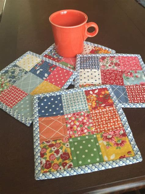moda patterns quilt mug rugs handmade quilted mug rug set bread and butter by american