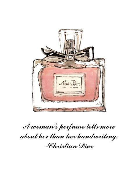perfume bottle and quote digital print file