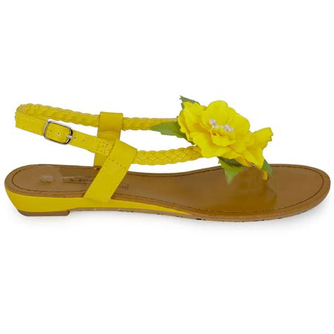 yellow flower shoes yellow flower day sling back womens casual flower