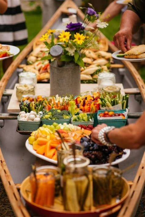 buffet ideas for wedding 21 cool ideas to use a canoe at your rustic wedding