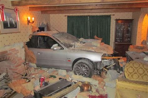 car in living room health and safety officer s shock as car ploughs into her