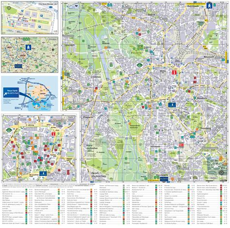 map of attractions in leipzig tourist attractions map