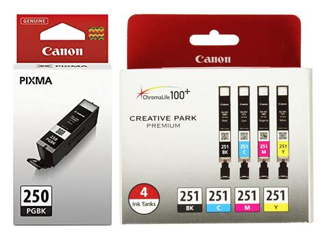 genuine canon pgi 250 cli 251 setup ink cartridge 5 pack ebay