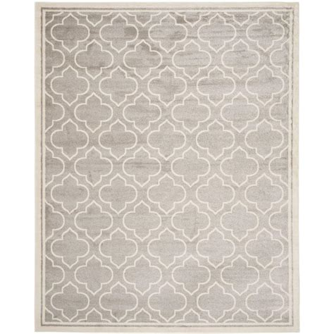 10 x 14 outdoor rug safavieh amherst light gray ivory 10 ft x 14 ft indoor
