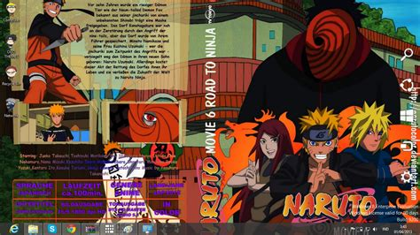 themes naruto shippuden windows 7 download gratis tema windows 7 naruto road to ninja theme