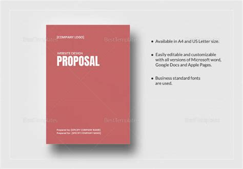 website design proposal exle sle web design proposal template 9 free documents in
