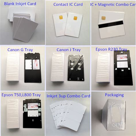 canon id card tray template blank inkjet pvc card compatible with canon j tray printer