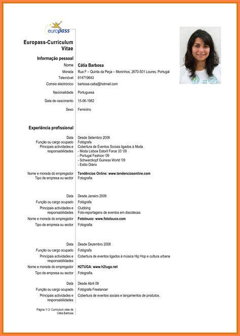 5 curriculum vitae em portugues bussines 2017