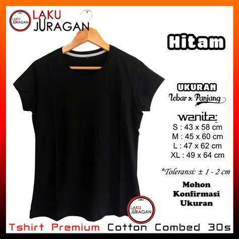 kaos polos wanita premium cotton 30s tshirt baju merk