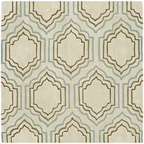 Modern Square Rug Safavieh Modern Beige Multi 5 Ft X 5 Ft Square Area Rug Mda626a 5sq The Home Depot