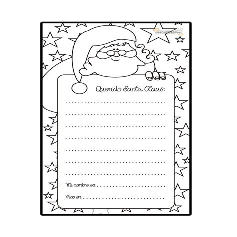 dibujos de navidad para colorear tamaño carta carta a santa claus para imprimir y colorear navidad