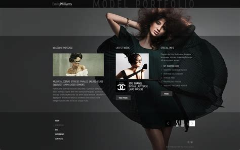model portfolio template model portfolio website template 43587