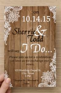 Shabby Chic Wedding Invitation Templates by Custom Shabby Chic Wedding Invitation And Rsvp Cards Digital