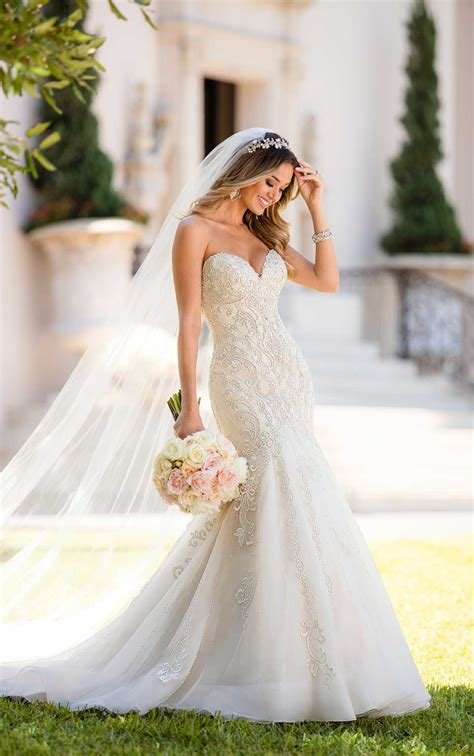 mermaid wedding dresses mermaid wedding dress with glamorous lace stella york