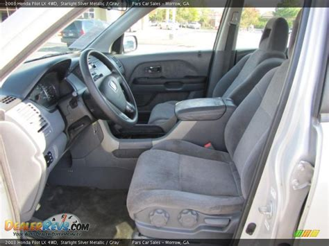 gray interior 2003 honda pilot lx 4wd photo 6