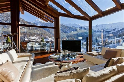 Mountain Homes Interiors | world of architecture 5 star luxury mountain home with an