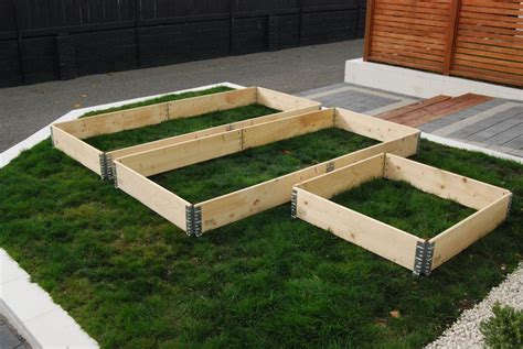 patio bed raised garden beds modular stackable planter boxes usa pallet collars pallets