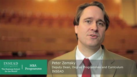 Dean Of Insead Mba by Welcome From Insead S Deputy Dean Zemsky