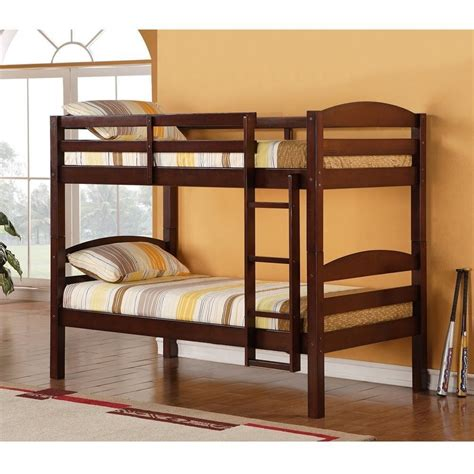 wood twin loft bed twin bunk bed espresso sturdy solid wood and 50 similar items