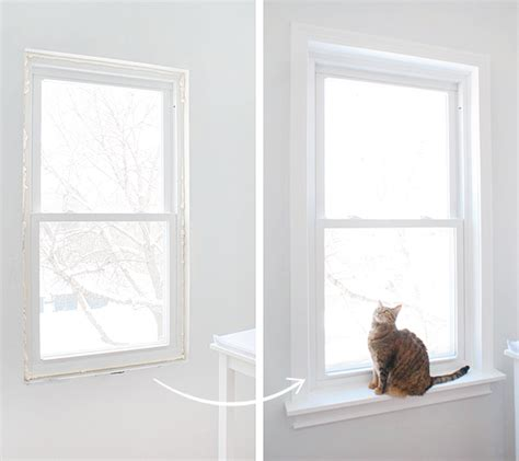 installing window sills and trim window