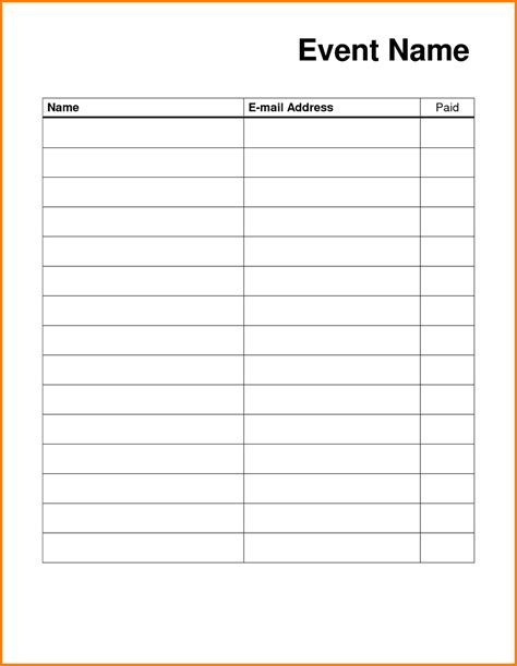 sign up card template blank sign up sheet printable loving printable